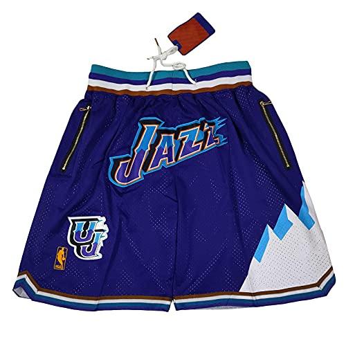 GFIK NBA Pantaloncini Da Pallacanestro Lakers Calore Nets Tasca Ricamato Pantaloncini Retro Pallacanestro Pantaloni XL E
