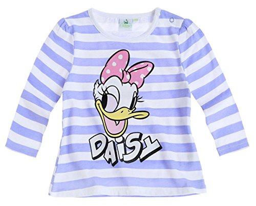 T-shirt manches longues bébé fille Daisy Disney Rayé blanc/bleu de 3 à 24mois (3 mois)