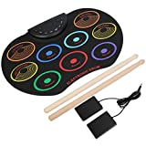 Instrumento musical de almohadilla de batería electrónica portátil para principiantes de oboísta para estudiantes(Colorful)