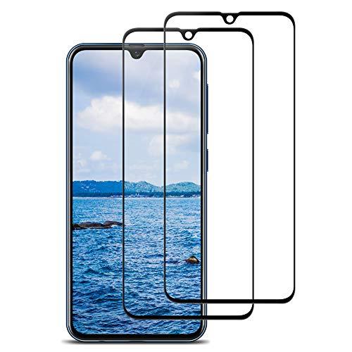 Bigmeda Cristal Templado para Samsung A70, [2 Pack] Dureza 9H Anti-Scratch Anti-Burbuja Fácil de Instalar, Protector de Pantalla Samsung Galaxy A70 Cristal Templado Premium [Negro]