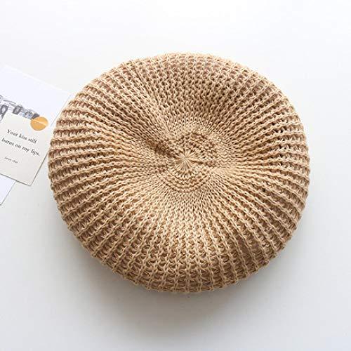 LIUQIAN Boina Sombrero de Primavera y Verano de Boina Crochet Femenina Retro Pintor literario Sombrero