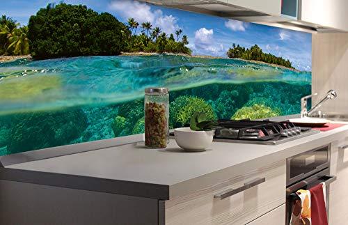 DIMEX LINE Küchenrückwand Folie selbstklebend KORALLENRIFF | Klebefolie - Dekofolie - Spritzschutz für Küche | Premium QUALITÄT - Made in EU | 180 cm x 60 cm