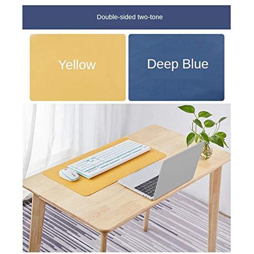 P Prettyia 1pc Alfombrilla De Ratón Grande Alfombrilla De Ordenador Portátil De Doble Color A Prueba De Agua Para Juegos - L amarillo + azul