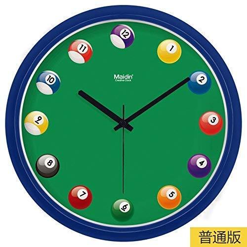 Hyy-yy RELOJ DE PARED decoración del hogar del reloj mudo reloj digital de cuarzo es un sitio de la oficina restaurante familiar es ideal for cualquier habitación 13En, básico zafiro azul (color: -, T