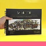 Cuaderno de bocetos grueso, cuaderno de encuadernación de 160 g recargable Adecuado para lápices, plumas estilográficas, rotuladores, libros de dibujo, suministros de arte 16K4