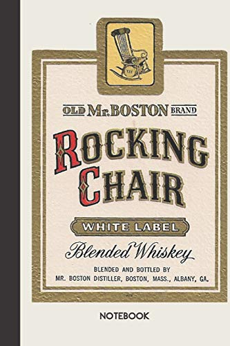 Notebook Rocking Chair: small lined Vintage Label Notebook / Travel Journal to write in (6'' x 9'') 120 pages