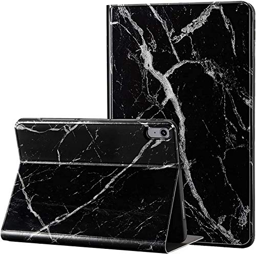 Funda para iPad Air 4 10.9 4.a Generación 2020 [Soporte para Carga De Apple Pencil 2], Funda Protectora Tipo Folio con Soporte De Múltiples Ángulos Smart Cover,Black Marble