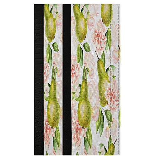 Watercolor Pears Flowers Refrigerator Door Handle Covers 2 Pcs Roses Peonies Kitchen Appliance Decor Handles Fridge Protector Gloves Ovens Door Cloth for Stove Dishwasher Microwave