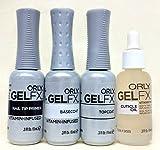 Orly Gel FX Essentials - Top Coat, Base Coat, Primer & Cuticle Oil - 9ml Each