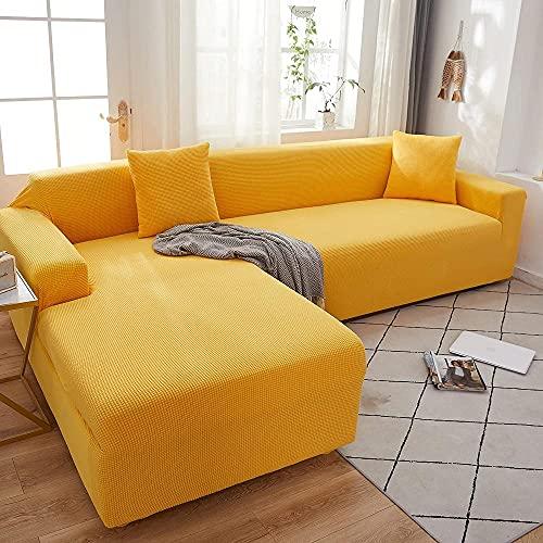 Sofá en forma de L con forma de L para sofá de esquina elástica y sofá de esquina adecuado para sofá de 1/2/3/4 y sofá de esquina (se deben comprar sofás de esquina en forma de L)
