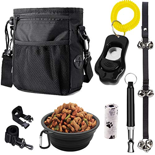PupsNTails Dog Training Kit - Puppy and Dog Training Treat Pouch,Adjustable Training Clicker,House...