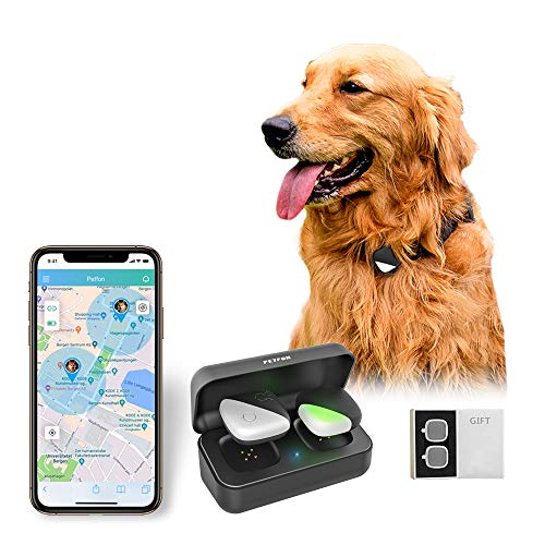 PETFON Dog GPS Tracker, No Monthly Fee, Real-Time Tracking Collar Device, APP Control for Pets (Dog...