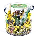 TOYLAND 18 Dinosaurios de Pieza de época jurásica en la Tina Juega a Las Figuras y el tapete de Juego