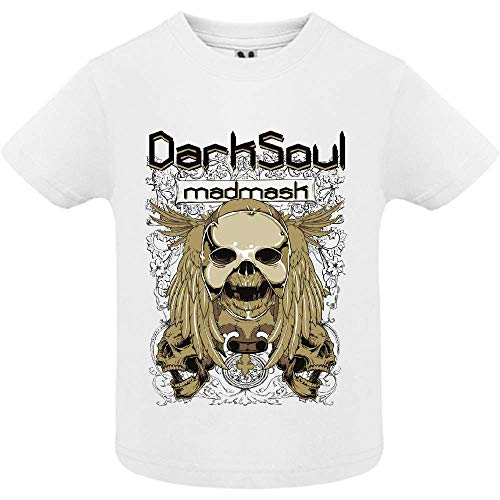 LookMyKase T-Shirt - Dark Soul - Bébé Garçon - Blanc - 6mois