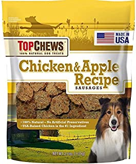 Top Chews Chicken & Apple Sausages 40 Ounces