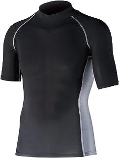 おたふく手袋 ボディータフネス 冷感・消臭 パワーストレッチ 半袖ハイネックシャツ JW-624 ブラック LL 5枚1セット