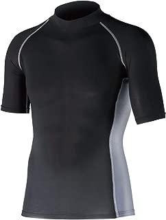 おたふく手袋 ボディータフネス 冷感・消臭 パワーストレッチ 半袖ハイネックシャツ JW-624 ブラック M