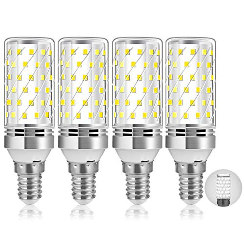 Bombillas LED E14, 12W Blanco Frío 6000K 1200LM Edison E14 LED Maíz Bombilla, Equivalente a 100W Lámpara Incandescente, Ángulo 360, Sin Parpadeo, No Regulable, Aquete de 4