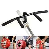 JSQC Rudergriff Kabelzuggriff LAT Barbell T-Bar Row Multi-Grip-Lenker Befestigung for Landminen - Build-Rückenmuskulatur □ Fits 1 Zoll Standard-und 2-Zoll-Olympic Bars (Black)