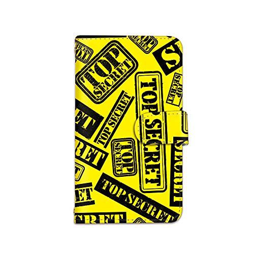 [bodenbaum] iPhone13 iPhone 13 手帳型 スマホケース カード ミラー スマホ ケース カバー ケータイ 携帯 Apple アップル アイフォンサーティーン docomo au SoftBank SIMフリー TOPSECRET ロゴ スタンプ柄 a-071 (C.イエロー)