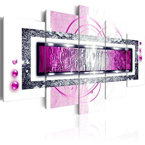 murando - Bilder 200x100 cm Vlies Leinwandbild 5 TLG Kunstdruck modern Wandbilder XXL Wanddekoration Design Wand Bild - Abstrakt a-A-0003-b-n