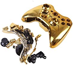 JJX-TECH™ Shell Case Cover Skin Replacement Kit for Xbox 360 Wireless Game Controller with Replacement Button Torx Screwdriver, & Crosshead Screwdriver (Gold)