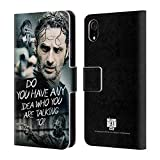 Head Case Designs Officially Licensed by AMC The Walking Dead Question Rick Grimes Legacy Leather Book Wallet Case Cover Compatible with Apple iPhone XR