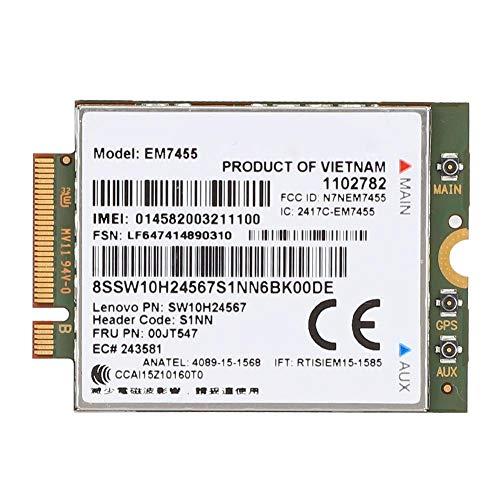 Netzwerkkarte, LTE FDD, Standalone, Betreibergenehmigung, Upload-Geschwindigkeit bis zu 50 Mbit/s, EM7455 Wireless 4G LTE-Modul-Netzwerkkarte 50 Mbit/s Passend für Lenovo ThinkPad