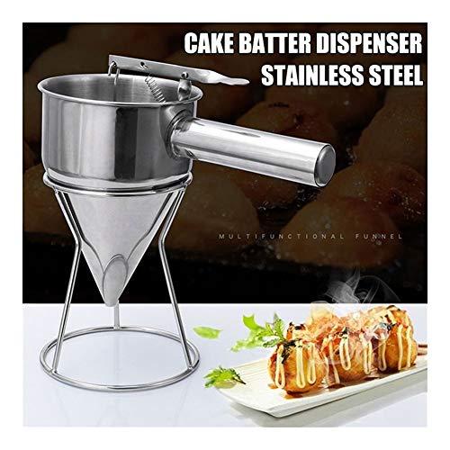 RVS Donut Cupcake Batter Dispenser Funnel Pancake Maker Helper Rack Lente-geladen handvat 22 x 14cm TB Sale (Color : Batter dispenser)