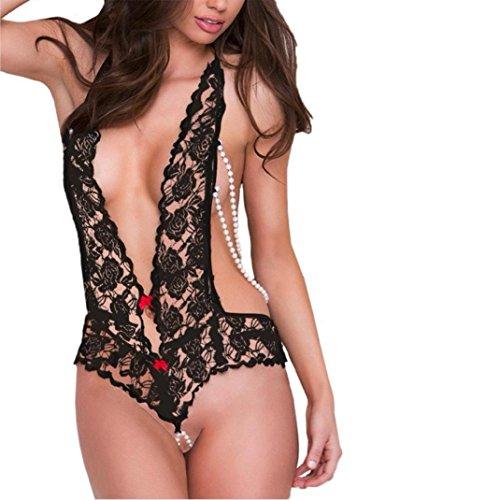 Lencería Sexy para Mujer Ropa de Dormir, ❤️Btruely Herren Mujeres Lencería Sexy para Mujer Ropa Interior de Pijama para Sexo (M, Negro)