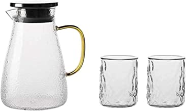 HJW Nuttige waterkoker theepot glazen kruik niture woonkamer transparante decoratieve theepot drank kan 3 stuks verpakking...
