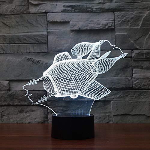 U-Boot 3D LED LampeEnergiesparende USB LED 3D Leuchten Kreatives Geschenk Buntes Acryl Visuelles Nachtlicht