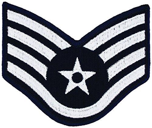 USAF Chevron Blue/Silver (Pair) (Male, Staff Sergeant)