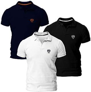 1b994e57c8e6f Kit com Três Camisas Polo Piquet Regular Fit Brasão - POLO Match