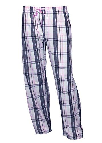 KB Socken Pyjamahosen Schlafanzughosen Hosen Nachtwäsche Pyjama 100prozent Baumwolle (rosa/grau, S)