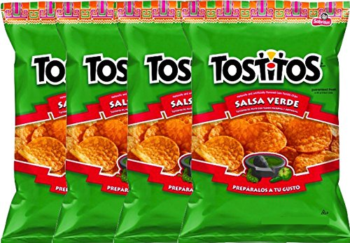 NEW Tostitos Salsa Verde Tortilla Chips - 3.25 Oz (4)