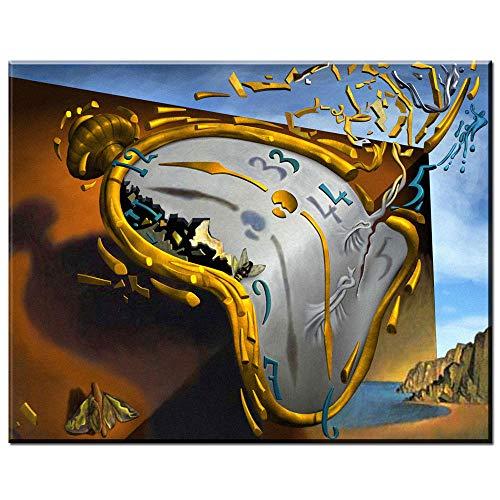 Moderno Arte de Lienzo Abstracto Reloj Melting,Dali Lienzo Pintura al óleo para la Sala de Estar Dormitorio 50X70CM SIN Marco