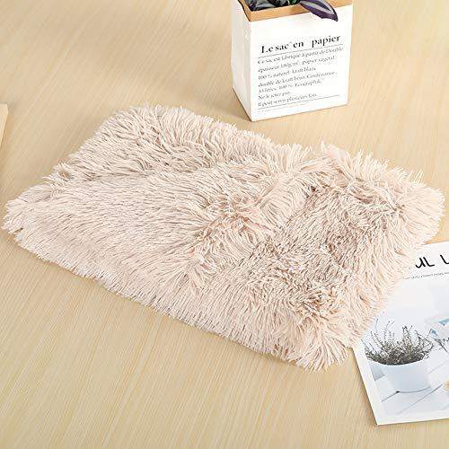 Ewolee Manta para perro, súper suave, cálida, esponjosa, de piel sintética peluda, lavable para dormir, para perros y gatos pequeños, medianos y grandes (medianos, marrón)