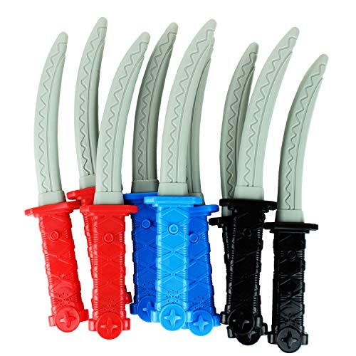 Boley Light & Sound Ninja Swords - 12 Pk Plastic Kids Toy Sword Playset for Ages 6+