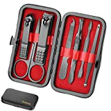 Manicure Set Personal care - Nail Clipper Kit Luxury Manicure 8 In 1 Professional Pedicure Set Grooming kit Gift for Men Husband Boyfriend Lover Parents Women Elder Patient Nail Care