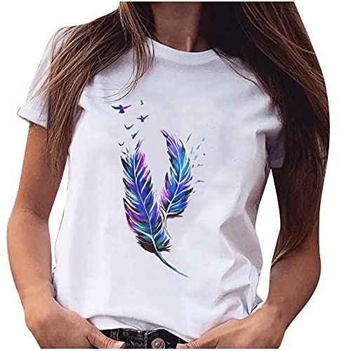 Tops de verano para mujer, camisetas informales para mujer, talla grande, camisa de manga corta, blusa de 7 a 10 días llegan Reino Unido