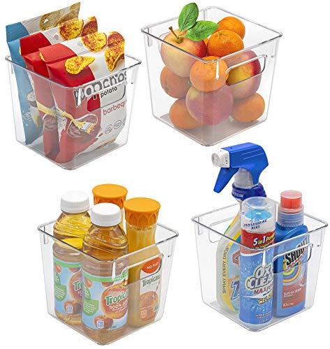 Sorbus - Contenedores de plástico transparente para organizar la cocina, nevera, comida, merienda, frutas, verduras, suministros de...