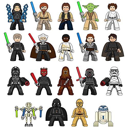 Minifigs - Star War Series- 19 Pcs Mini Figures Building Blocks Kit - Small Toy Custom Figurines Set