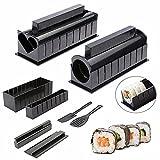 10 Unids Kit De Maki De Sushi Complete, Máquina De Cocina Utensilios De Fabricante De Sushi Con Rodillos Para Hacer Rodillos Para Hacer Redondos Makis / Sushis