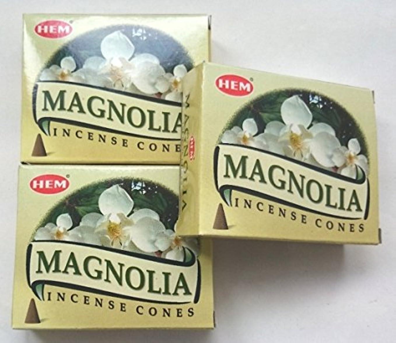 スズメバチ視聴者スチールHEM(ヘム)お香 マグノリア コーン 3個セット
