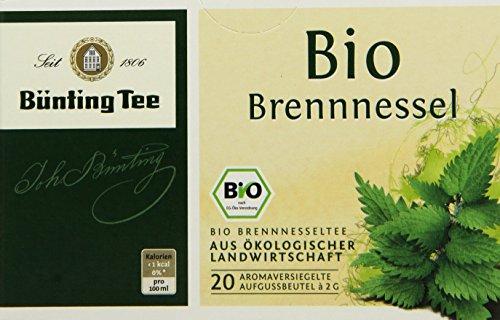 Bünting Tee Bio Brennnessel 20 x 2g Beutel, 4er Pack (4 x 40 g)