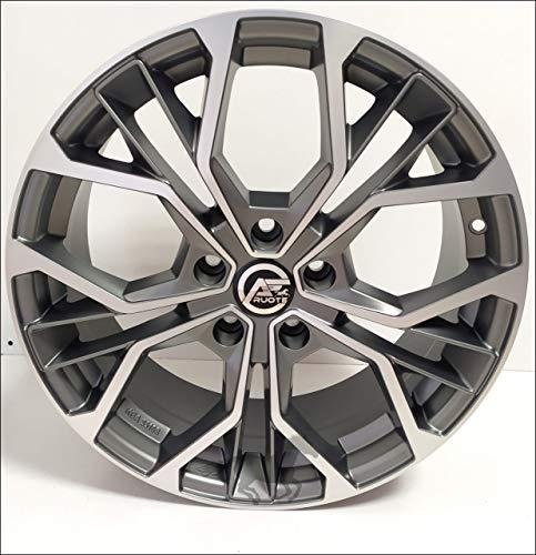1 Matisse Llantas de Aleación NAD 7 17 5X112 45 66,5 Compatible Con Seat Leon Ateca Skoda Hecho en Italia