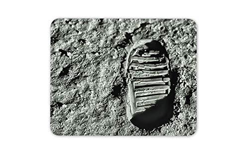 Mousepad Maus Matte Maus Pads Mann auf dem Mond ersten Schritt Fußabdruck Maus Matte Pad - NASA Geschenk Computer