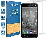 PREMYO 2 Stück Panzerglas Schutzglas Bildschirmschutzfolie Folie kompatibel für Wiko Lenny 3 Blasenfrei HD-Klar 9H 2,5D Gegen Kratzer Fingerabdrücke