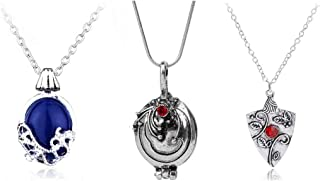 3 Pieces Vampire Diaries Necklaces:Katherine, Bonnie and Verbena Pendants Movie Jewelry Cosplay For Women